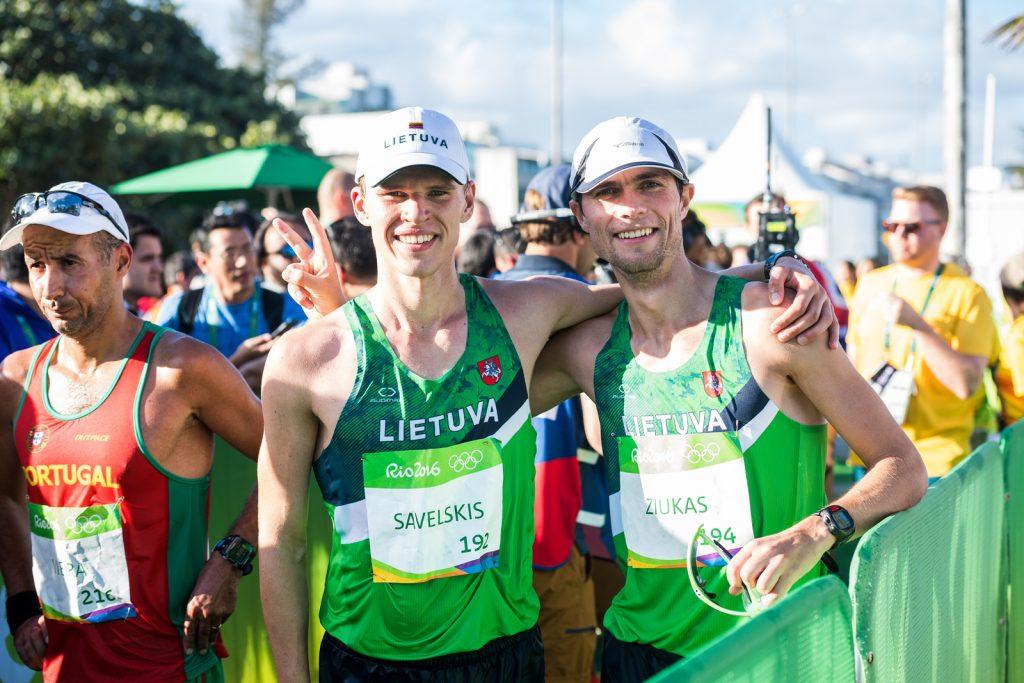 Marius Žiūkas (dešinėje) 2016 m. Rio de Žaneiro olimpinėse žaidynėse (A.pliadžio nuotr.)