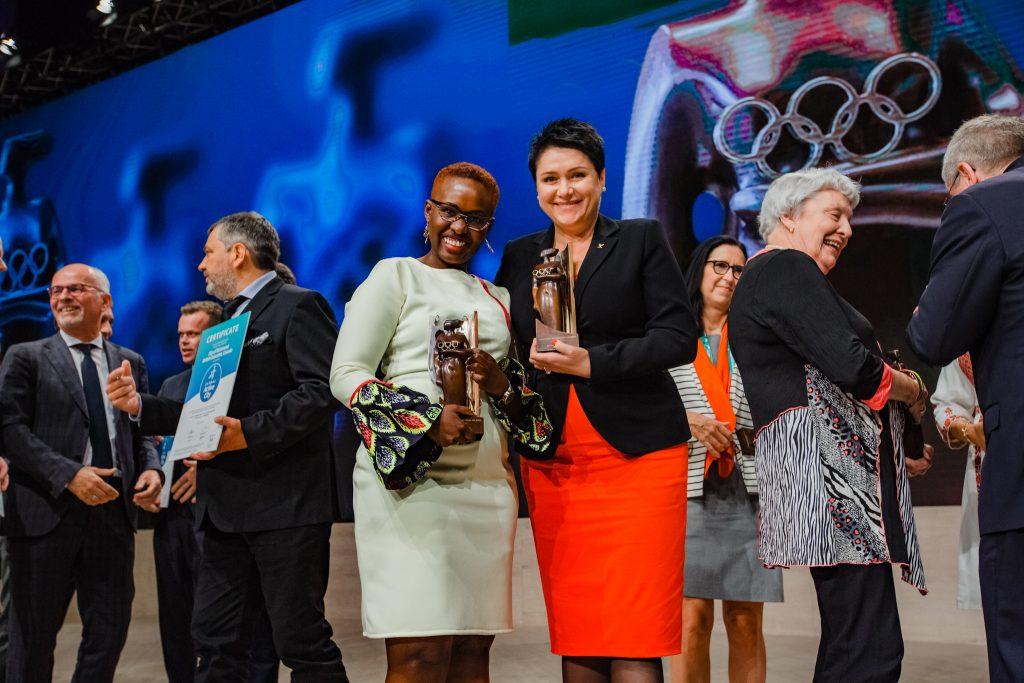 """2018 m. laimėjo apdovanojimą """"Moteris ir sportas"""" (IOC nuotr.)"""