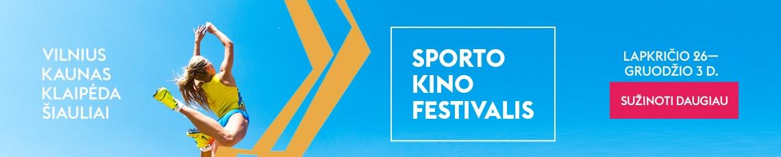 Sporto kino festivalis BANERIS sužinoti daugiau