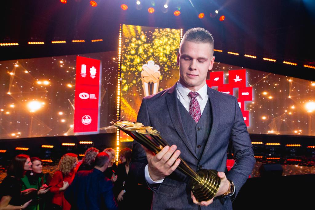 Danas Rapšys 2019 metų LTeam Apdovanojimuose išrinktas Metų sportininku (E.Žaldario nuotr.)