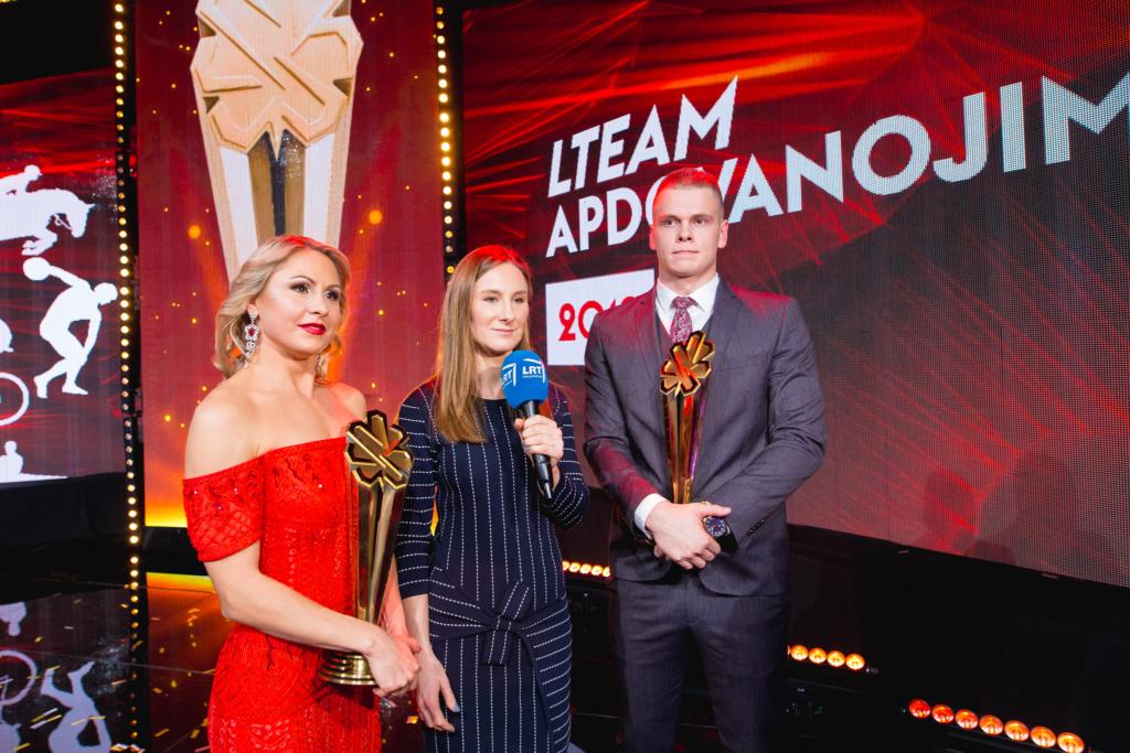 Brigita kalbina 2019 metų LTeam Apdovanojimų laureatus (E.Žaldario nuotr.)