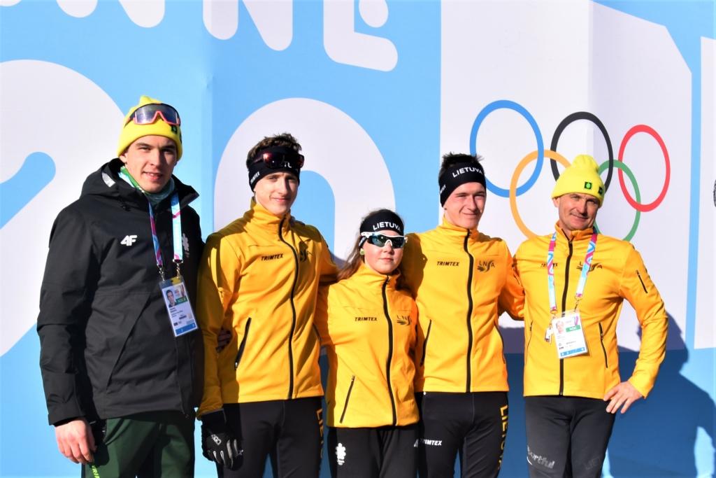 Lietuvos slidininkų komanda jaunimo olimpinėse žaidynėse Lozanoje