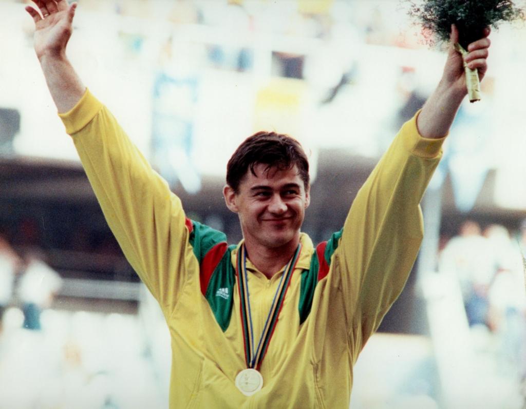 Olimpinis čempionas Romas Ubartas 1992 m. Barselonoje (Valdo Malinausko nuotr.)