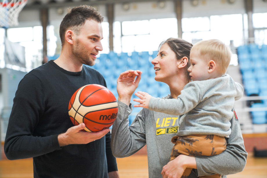 Arnas, Giedrė ir Kevinas Labuckai