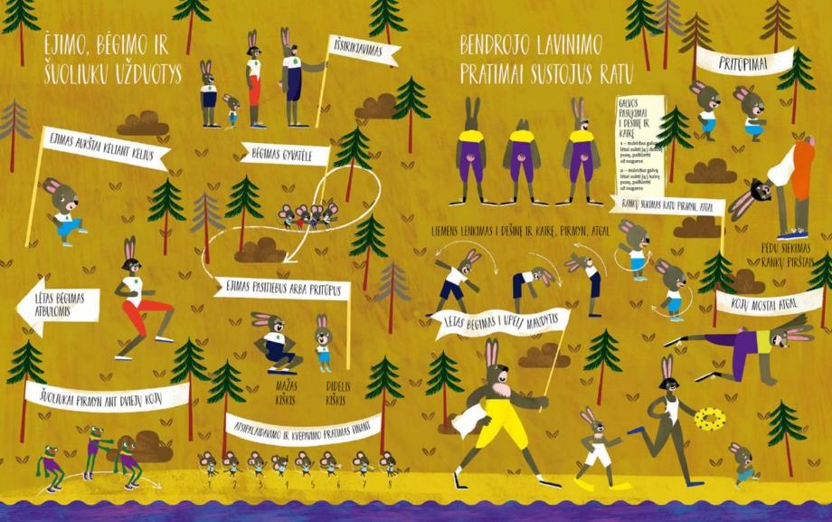 Miško žaidynės iliustracija