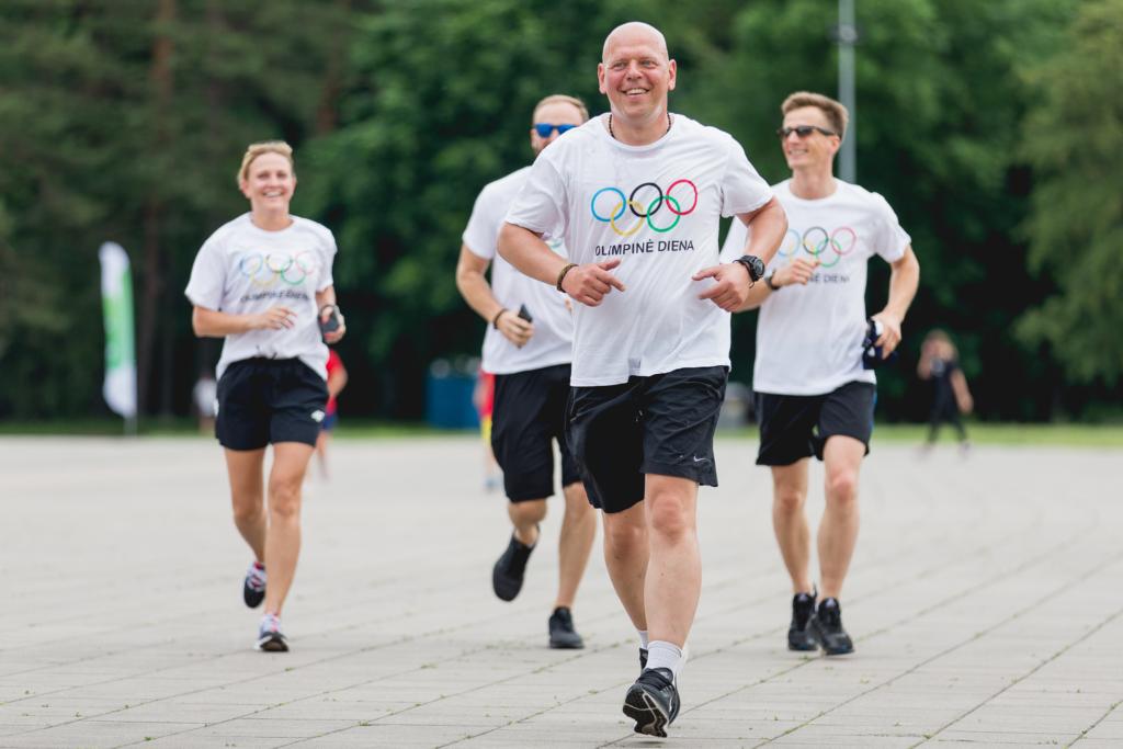 G. Liaudanskas birželio 23 d. sostinės Vingio parke pažymint Tarptautinę olimpinę dieną įveikė lietuvišką olimpinę mylią (E.Žaldaris/LTOK)