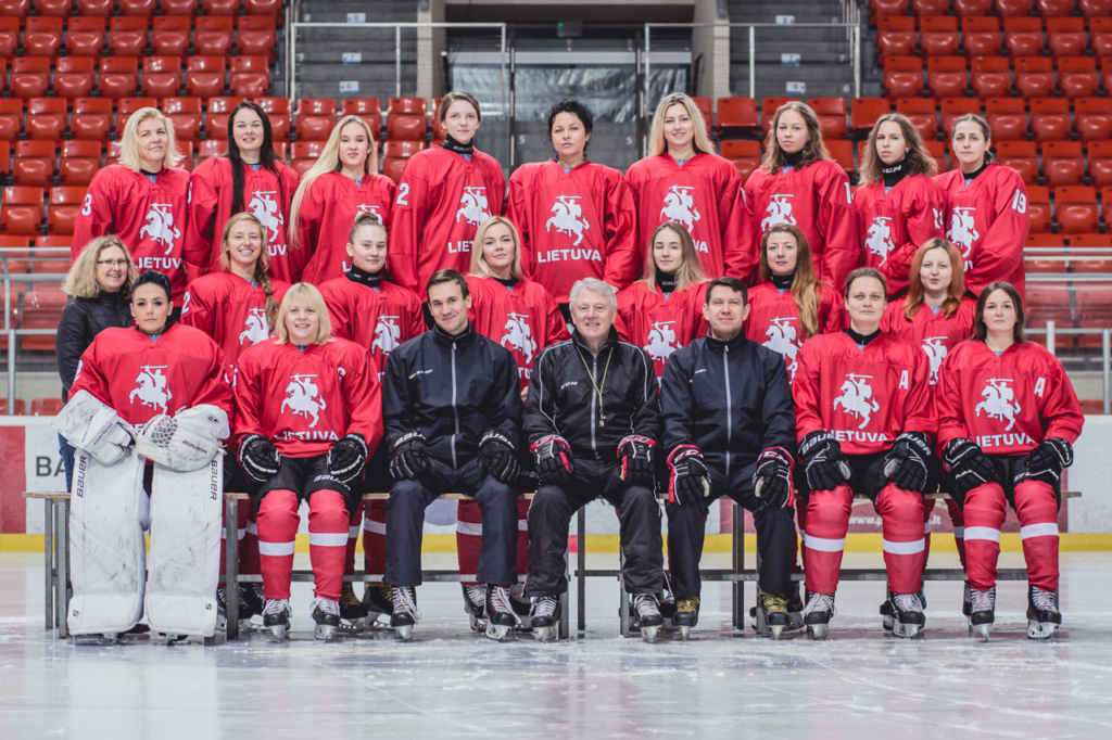 Lietuvos moterų ledo ritulio rinktinė (hockey.lt nuotr.)