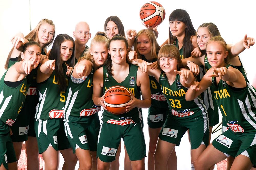 2019 m. Lietuvos 16-mečių merginų krepšinio rinktinė (FIBA nuotr.)