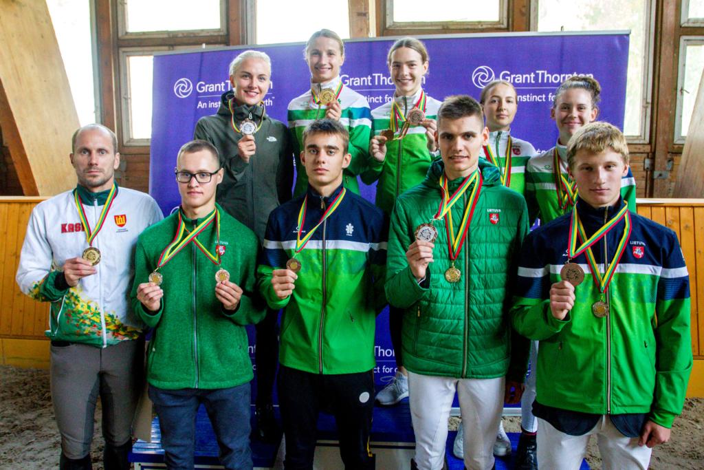 2020 m. Lietuvos čempionato prizininkai (E. Šemioto nuotr.)