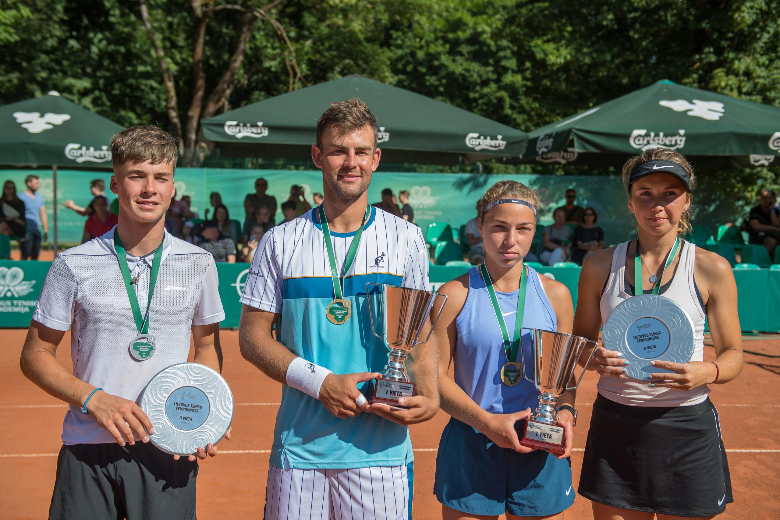 Lietuvos teniso čempionato finalininkai
