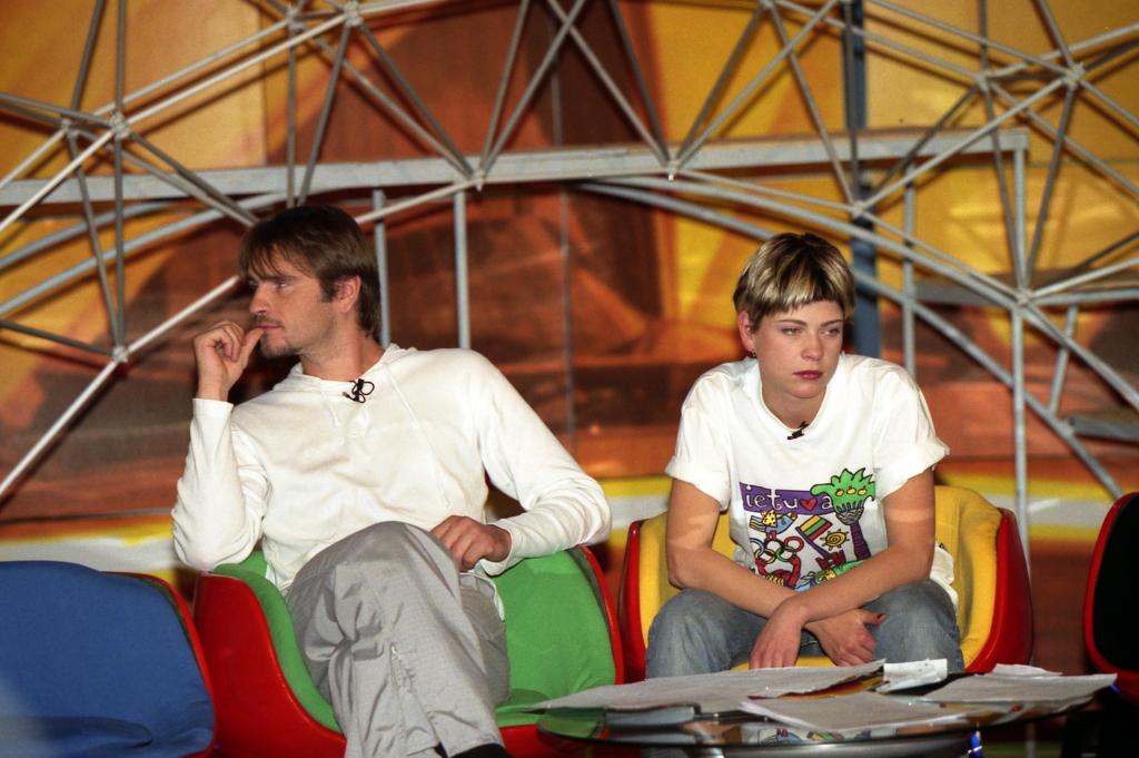 """M. Mikutavičius laidoje, kuriai buvo sukurti """"Trys milijonai"""". A. Pliadžio nuotr."""