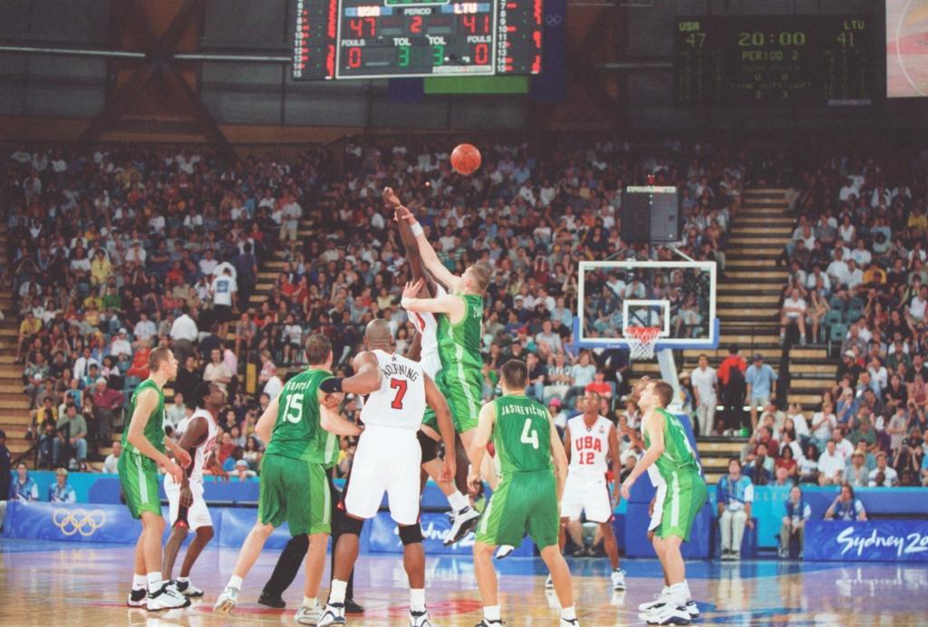 Lietuva-JAV rungtynių akimirka (Stephen Munday nuotr.)