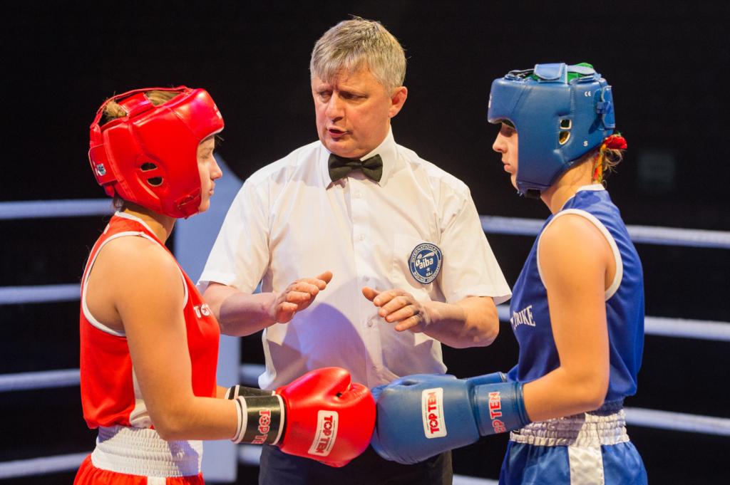 Moterų boksas. A. Pliadžio nuotr.