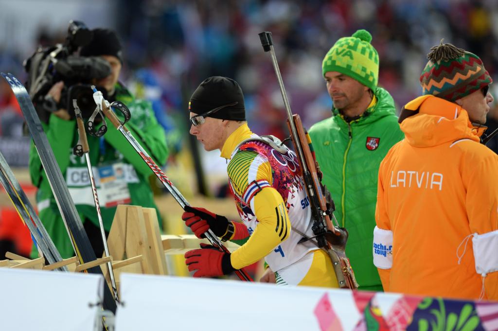 I.Bricis (dešinėje) rengė T.Kaukėną Sočio olimpinėms žaidynėms (A. Pliadžio nuotr.).