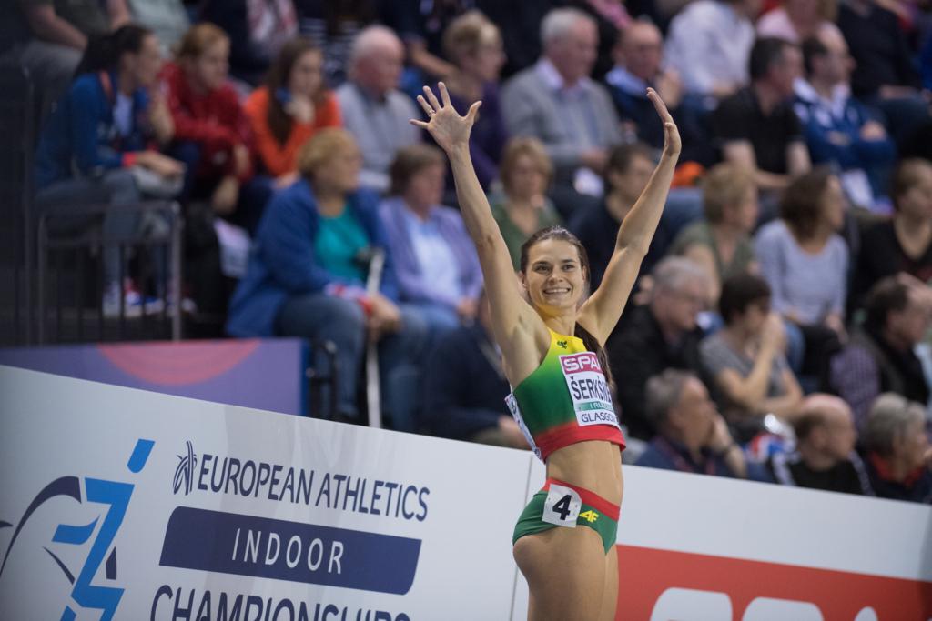 Agnė Šerkšnienė 2019 m. Europos uždarų patalpų čempionate Glazge (A. Pliadžio nuotr.)