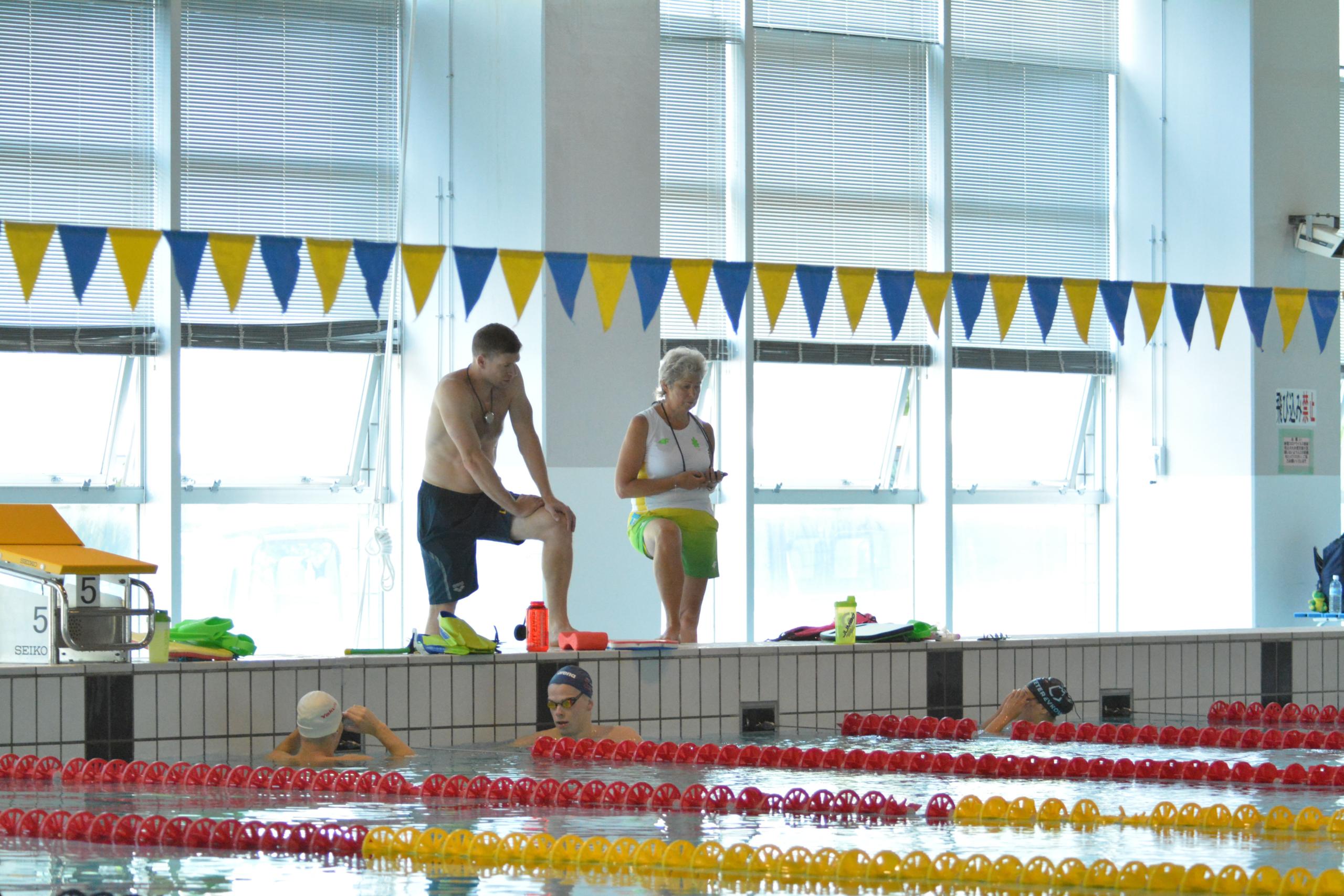 Lietuvos plaukikai Hiracukos sporto bazėje.