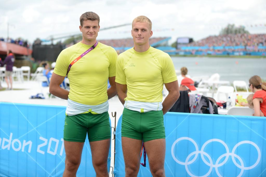 Saulius Ritter ir Rolandas Maščinskas 2012 m. Londono olimpinėse žaidynėse (A.Pliadžio nuotr.)